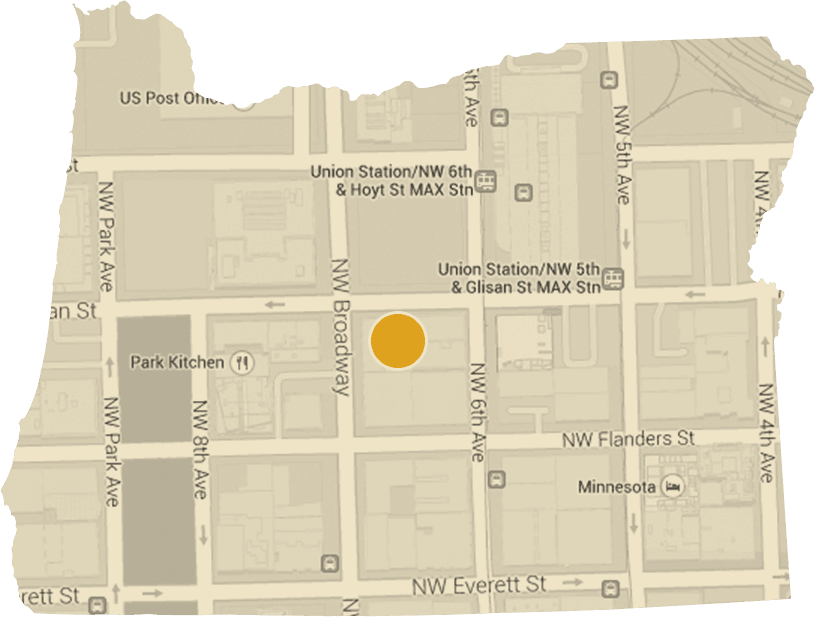 Map of Portland Oregon Office